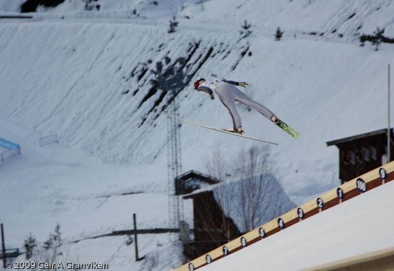 Line Jahr, Vikersund IF, Norway (trial jumping Friday)