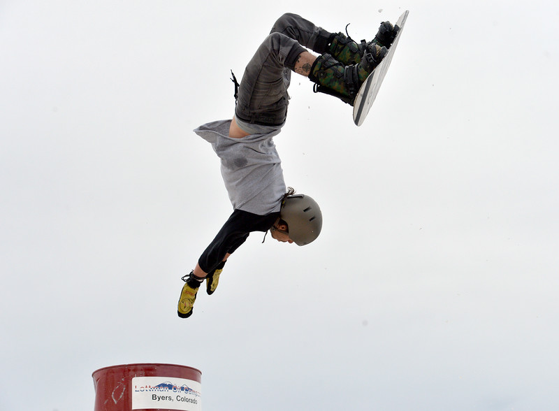 "Kyle Kelley performs a stunt during the 2016 Hops and Rails at Roosevelt Park in Longmont on Saturday.<br /> More photos:  <a href=""http://www.dailycamera.com"">http://www.dailycamera.com</a><br /> David R. Jennings/Staff Photographer<br /> March 12, 2016"