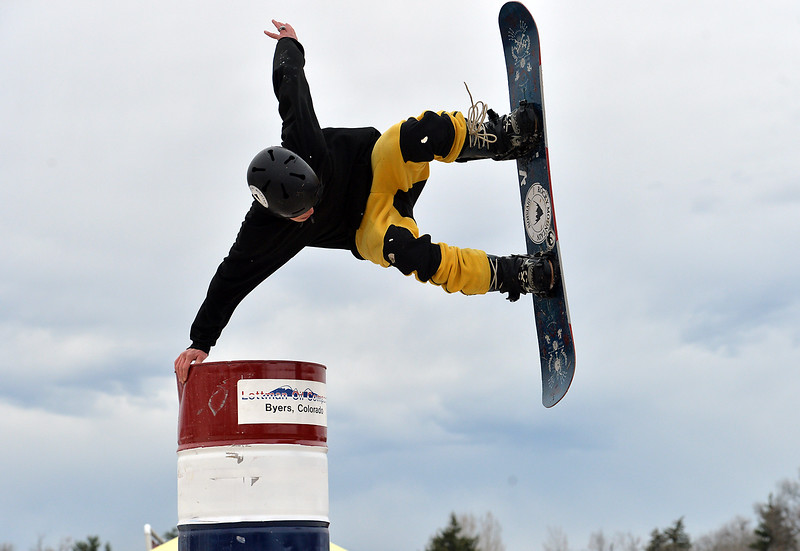 "Ben Elliott performs a stunt at the 2016 Hops and Rails at Roosevelt Park on Saturday.<br /> More photos:  <a href=""http://www.dailycamera.com"">http://www.dailycamera.com</a><br /> David R. Jennings/Staff Photographer<br /> March 12, 2016"