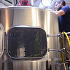 Wet Hops being added to the mash tun Threes Brewery