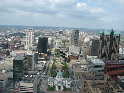 View from Gateway arch, St Louis, Missouri