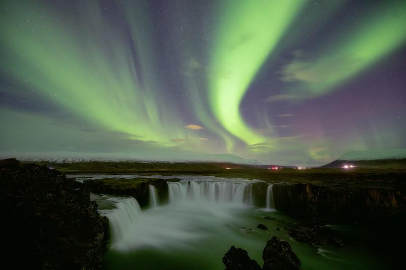 Goðafoss under the Lights