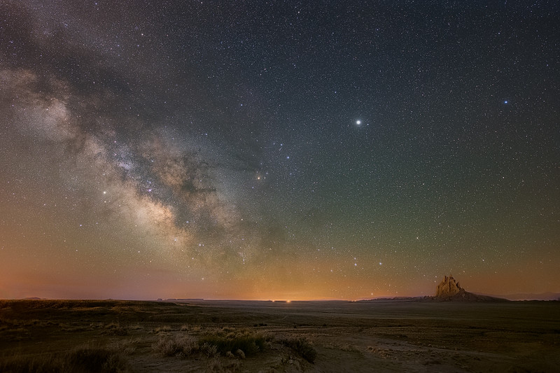 Shiprock and Milky Way