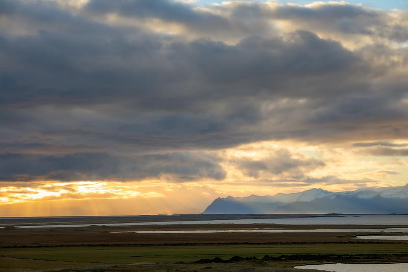 Sun Setting over Iceland
