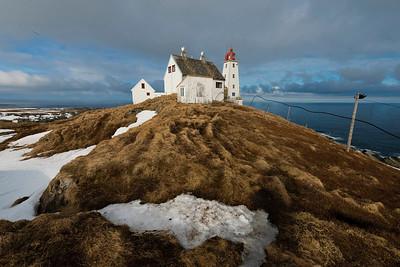 Hornøya Lighthouse, Vardø, Varanger, North Norway, first days of April.