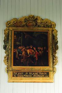 Altaristaflan í Staðarkirkju Aðalvík. For ærit af afgagne maren SL Erich Monckis Aruinger 1695