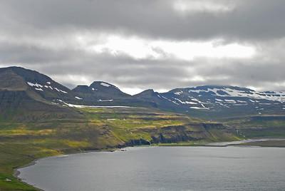 Horft inn í Hornvíkina