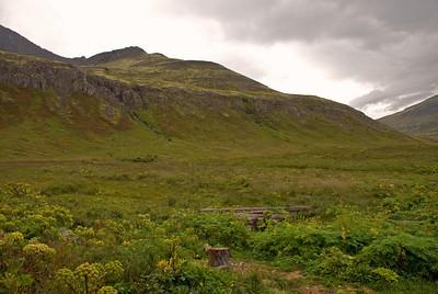 Horft yfir að Múlanum á brottfarardegi
