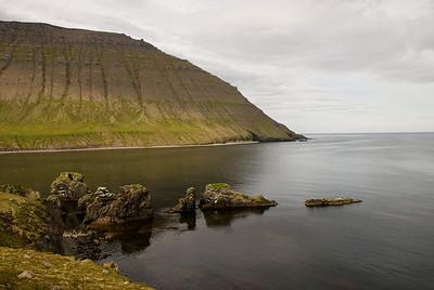 Horft út Rekavík - leiðin undir Rekavíkurfjall í Hvannadal