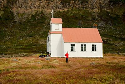 Grunnavík - Staður. Kirkjan að Stað í Grunnavík.