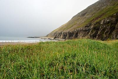 Horft út Hornvík frá Drífanda.