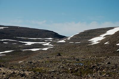 Fljótsskarð séð frá Kjaransvíkurskarði.