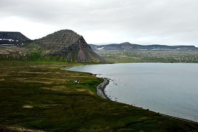 Horft yfir Hlöðuvík.