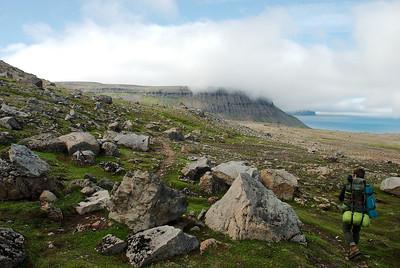 Á leiðinni í Miðvík.