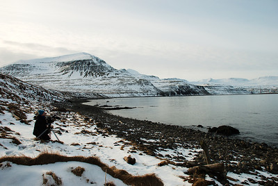 Í Hornvík. Dögunarfell.