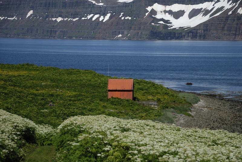 Aðalvík - Sæból. Neyðarskýlið 2014.