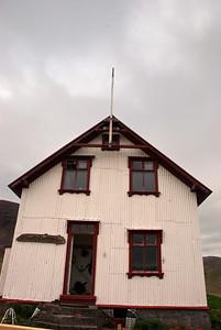 Aðalvík - Staður. Prestbústaðurinn - vesturhlið