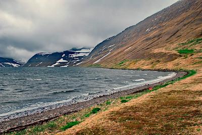 Horft inn Lónafjörð frá Sauðungseyri
