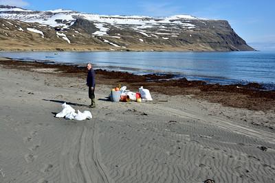 Jón Björnsson þjóðgarðsvörður á Snæfellsnesi gat ekki sleppt því að mæta