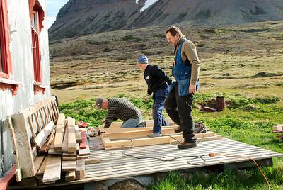 Gunnar, Inga smiður og Stefán smiður.