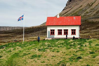 Aðalvík - Staður. Prestbústaðurinn 2013.