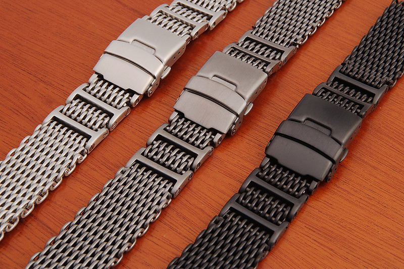 Left to right: st st, gunmetal and PVD.
