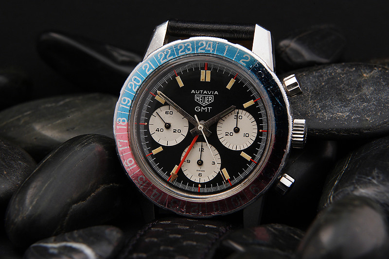 70's Heuer Autavia GMT