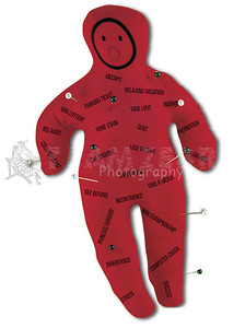 VOODOO DOLL ~Good Bad Luck Novelty Witchcraft Hex Spell Curse Gag Gift