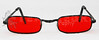 Vampire Glasses Sunglasses - Rectangular - Red -1