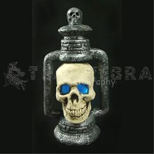 Light-Up SKULL LANTERN Halloween Gothic Graveyard Haunted Dungeon Prop-2