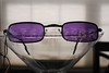 Vampire Glasses Sunglasses - Rectangular - Purple -2