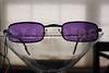 Vampire Glasses Sunglasses - Rectangular - Purple -2