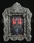 NEW Light-Up Gothic GRIM REAPER HAUNTED PORTRAIT Skull Skeleton Picture