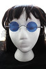 Steampunk John Lennon Round Hippie Glasses Sunglasses - Blue -1