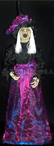 ANIMATED STANDING WICKED WITCH Life-Size Light-up Sound Halloween Prop-3