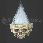HUGE Gothic LIGHT-UP TRI-SKULL Halloween Haunted House Cemetery Prop