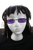 Vampire Glasses Sunglasses - Rectangular - Purple -1