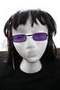 Vampire Glasses Sunglasses - Rectangular - Purple -1