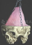HUGE Gothic LIGHT-UP TRI-SKULL Halloween Haunted House Cemetery Prop-3