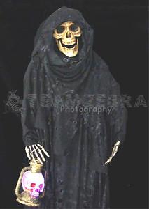 Life-Size SKELETON GRIM REAPER CORPSE PROP~Light-up LED Skull Lantern-4