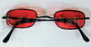 Vampire Glasses Sunglasses - Rectangular - Red -2