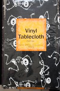 Skeleton Vinyl Tablecloth-Oblong