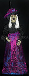 ANIMATED STANDING WICKED WITCH Life-Size Light-up Sound Halloween Prop -full