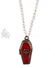 COFFIN POISON PENDANT NECKLACE ~ Gothic Vampire Alchemy Message Locket