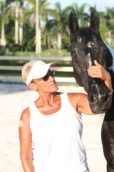 Romeo and Terri Preiser at Signature Stables in Lake Worth Florida.
