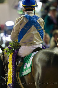 Garrett Gomez after winning the Breeders Cup Classic on Blame 11.06.2010ww