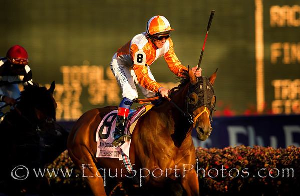 Dangerous Midge (Lion Heart), Frankie Dettori up, wins the Breeders' Cup Turf (G1) for trainer Brian Meehan, and owner Iraj Parvizi, at Churchill Downs 11.06.2010ae