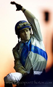 Garrett Gomez after winning the Breeders Cup Classic on Blame 11.06.2010ae