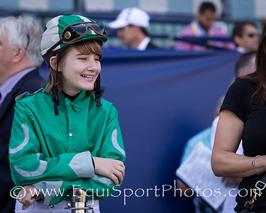 A young fan came dressed as a jockey for the Breeders' Cup weekend.