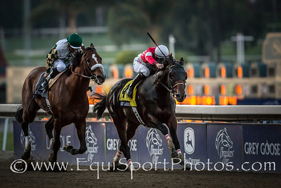 Fort Larned (E Dubai) wins the Breeders Cup Classic at Santa Anita on 11.3.2012.  Brian Hernandez up, Ian Wilkes trainer, Janis Whitham owner.